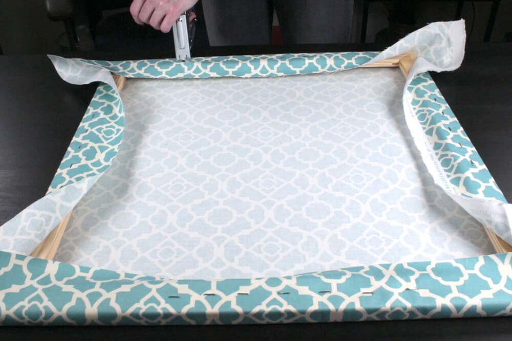 How To Make Fabric Wall Art- Wrap the frame
