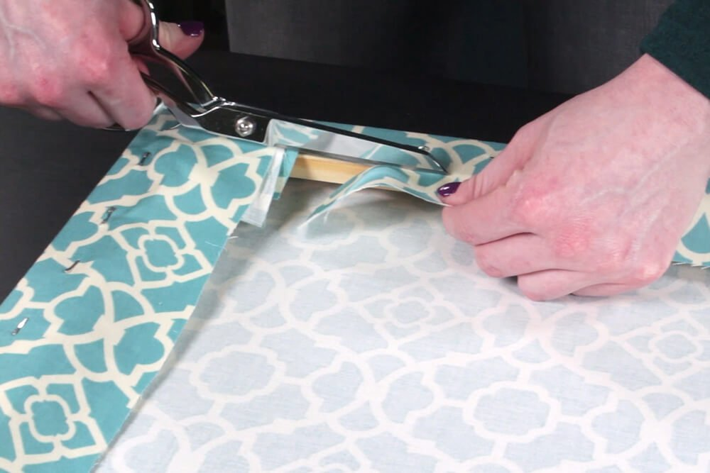 How To Make Fabric Wall Art-Wrap the frame