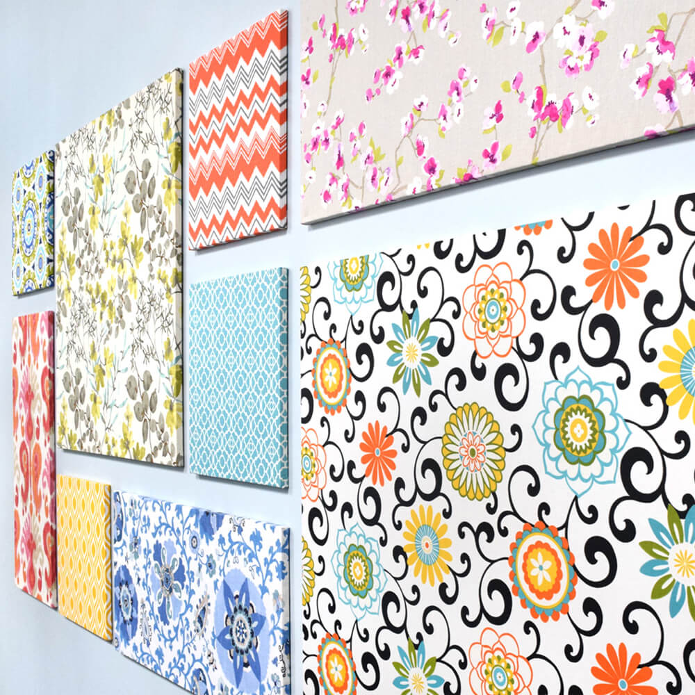 How To Make Fabric Wall Art-Finished