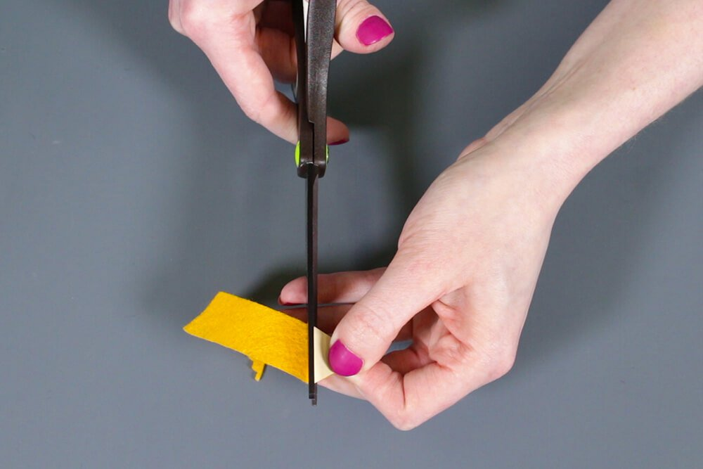 How To Make a Felt Pencil Holder- Cut out pieces of felt