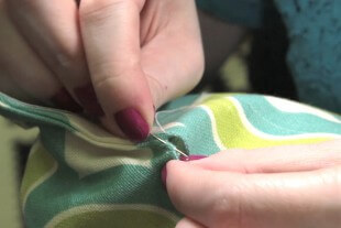 How to Sew an Invisible Stitch - Sewing across the opening