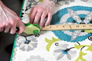 How To Make Lined Back Tab Curtains: Step 1 - Measure & cut the fabric