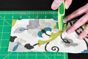 How To Make Lined Back Tab Curtains: Step 2 - Make the tabs