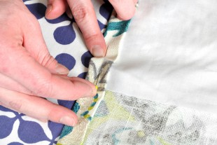 How To Make Lined Back Tab Curtains: Step 4 - Sew the sides & bottom