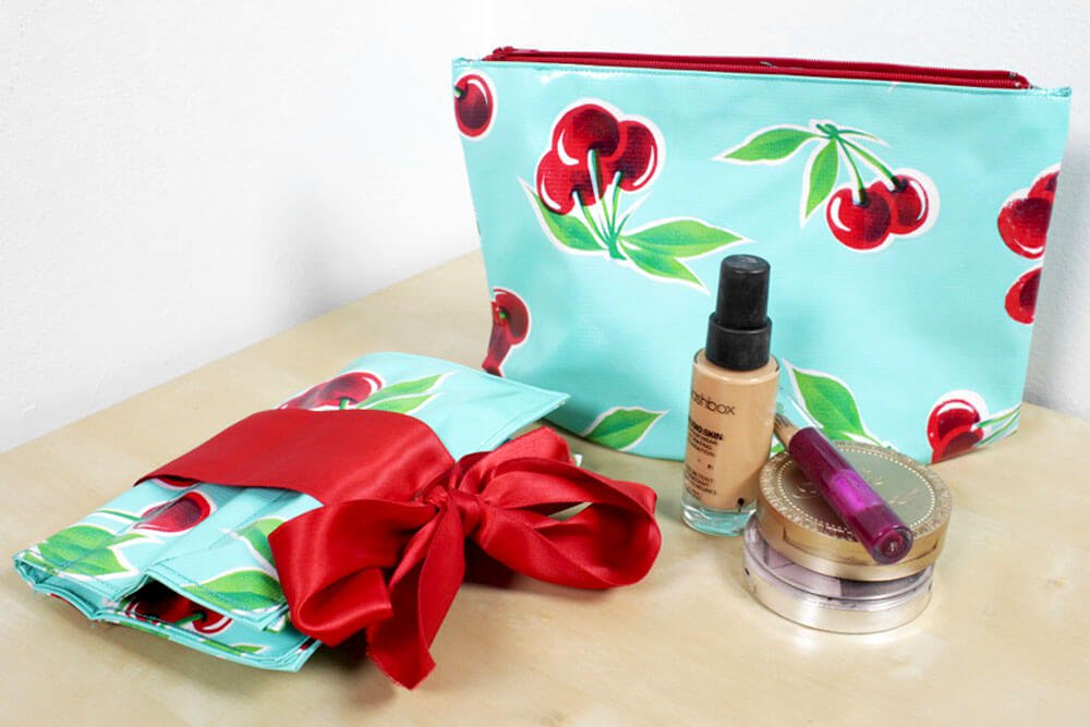 Cosmetics Bag and Brush Holder