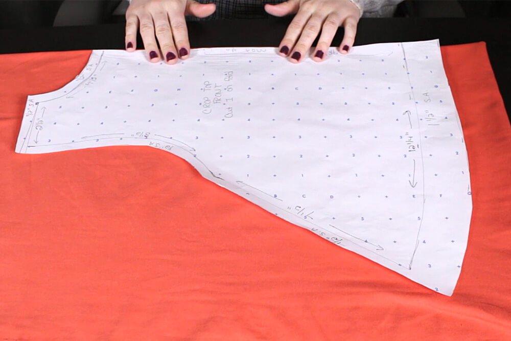 DIY Crop Top Tutorial - Cutting the pattern