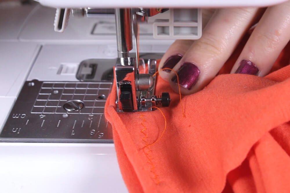 DIY Crop Top Tutorial - Attaching the sleeves