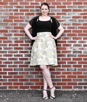 How To Make a High Waisted Pleated Skirt