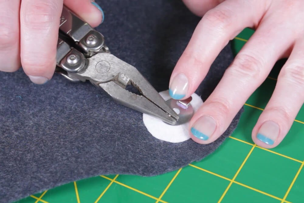 DIY Envelope Clutch (iPad / Tablet Case) - Step 2: Attach the snap
