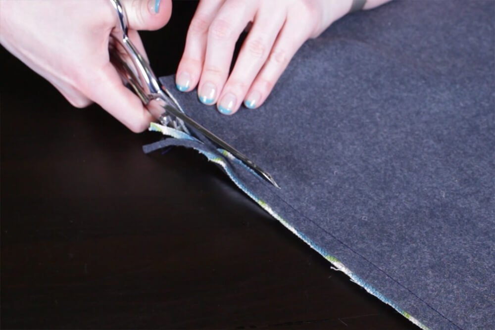 DIY Envelope Clutch (iPad / Tablet Case) - Step 4: Sew the outer and inner pieces together