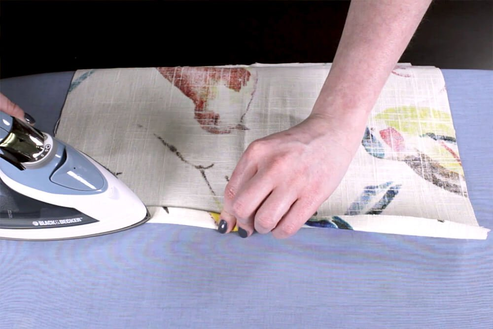 How to Sew an Envelope Pillow with Piping - Hemming the back pieces