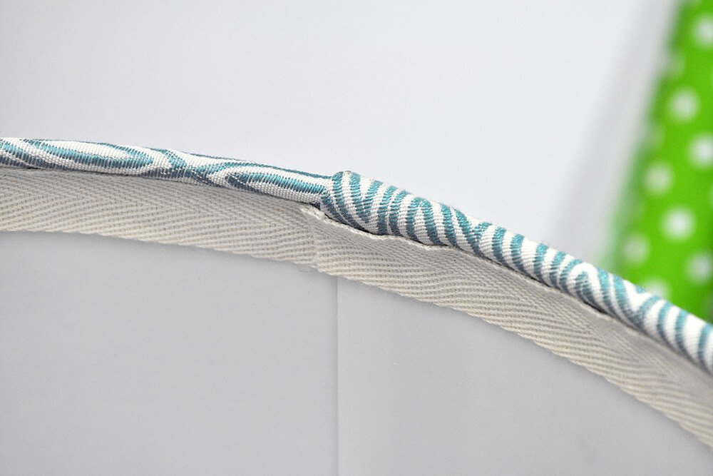 How to Cover a Lampshade with Fabric - Step 5: Add ribbon to finish the edges