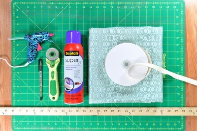 How to cover a lampshade with fabric ofs makers mill how to cover a lampshade with fabric greentooth Choice Image