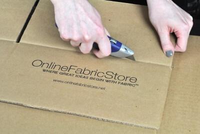 DIY Fabric Storage Bin - Step 1: Cut the cardboard