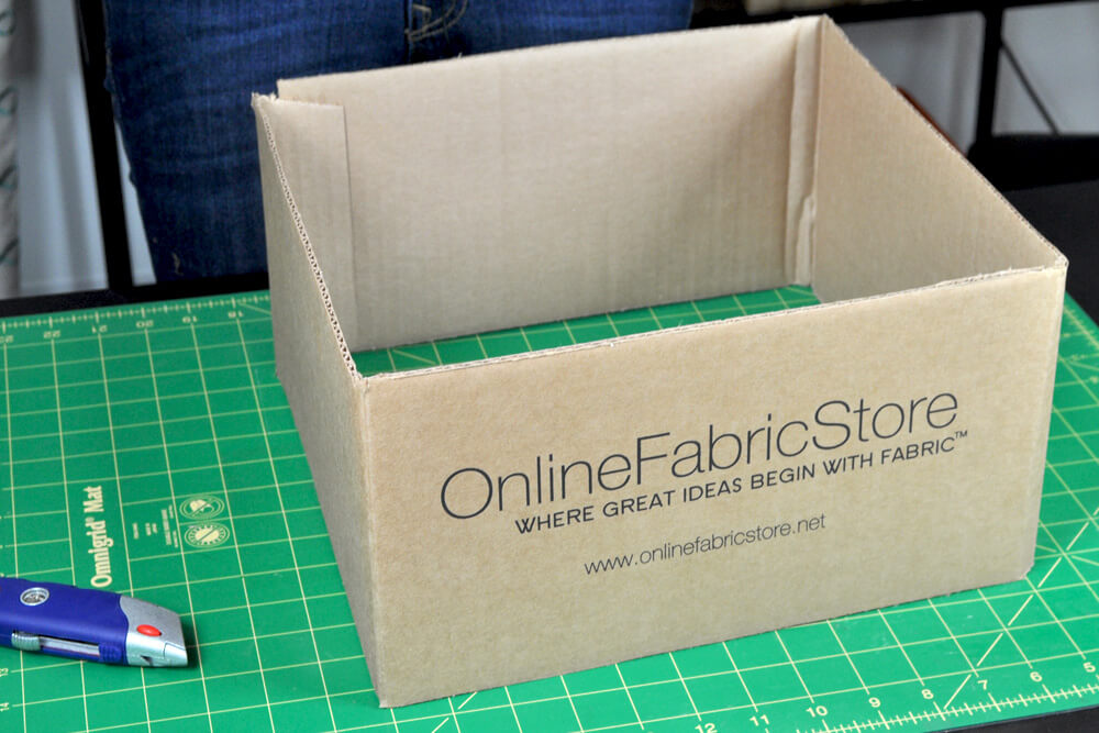 DIY Fabric Storage Bin - Step 1: Cut the cardboard