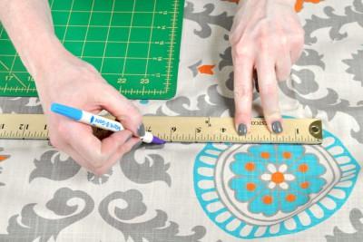 DIY Fabric Storage Bin - Step 2: Measure & cut the fabric