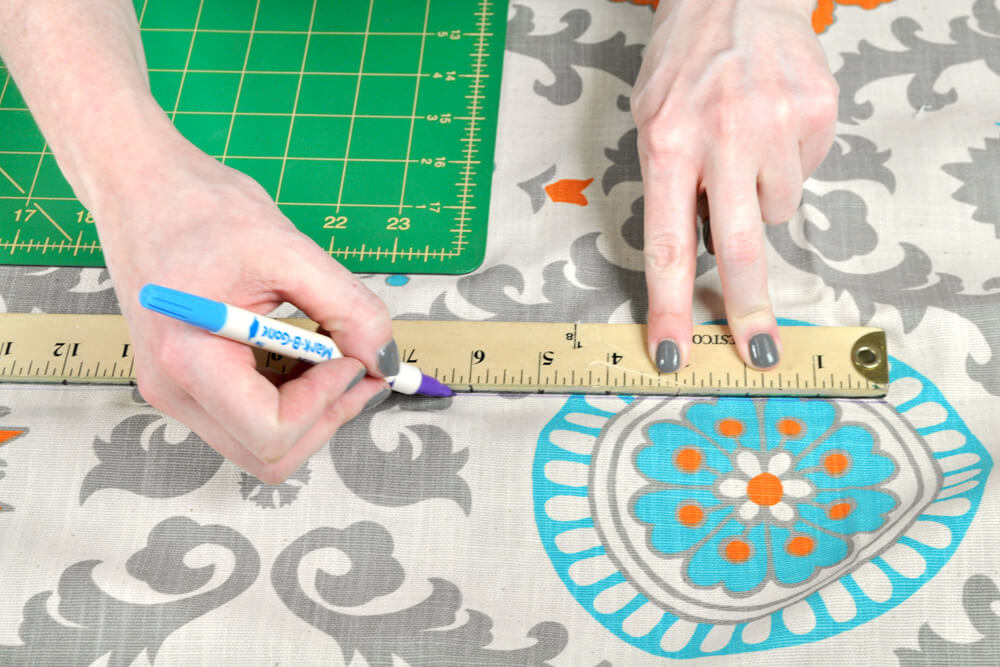 DIY Fabric Storage Bin - Step 2: Measure & cut the fabric