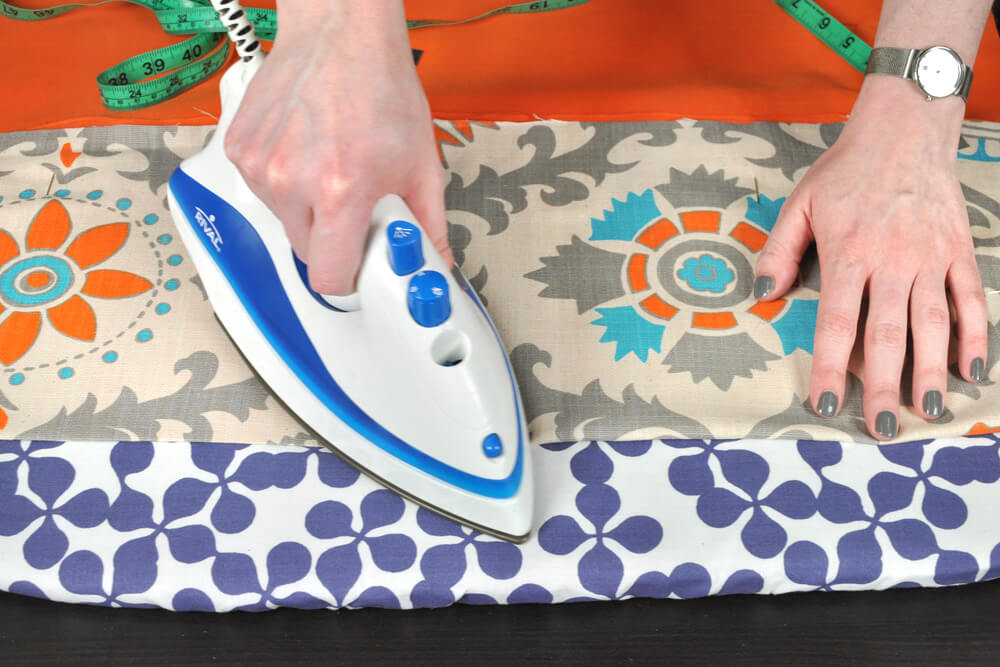 DIY Fabric Storage Bin - Step 4: Iron the outer & inner fabric