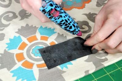 DIY Fabric Storage Bin - Step 6: Make chalk cloth label (optional)
