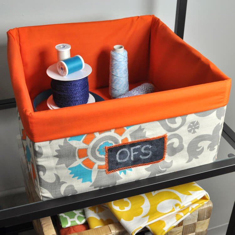How to Make a Fabric Storage Bin