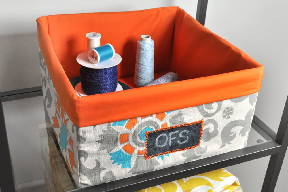 Write A Label On The Chalkcloth And The Fabric Storage Bin Is Good To Go!