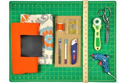 DIY Fabric Storage Bin Materials