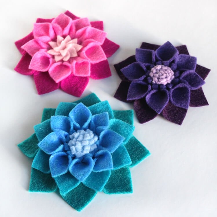 How To Make No Sew Felt Flowers Ofs Maker S Mill