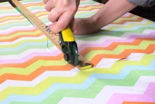 DIY Garden Apron Tutorial - Cutting the fabric