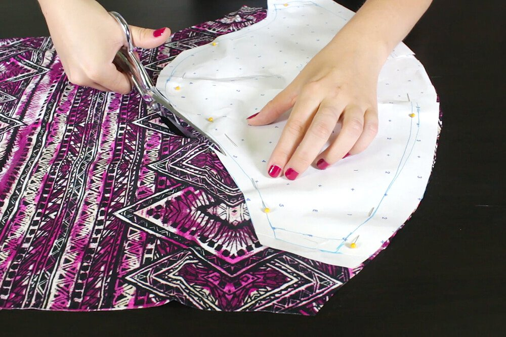 DIY High Low Tunic Tutorial - Cutting the pattern