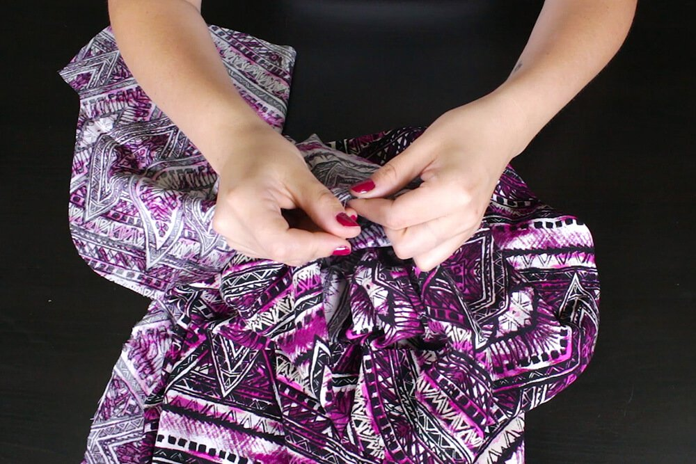 DIY High Low Tunic Tutorial - Attaching the sleeves