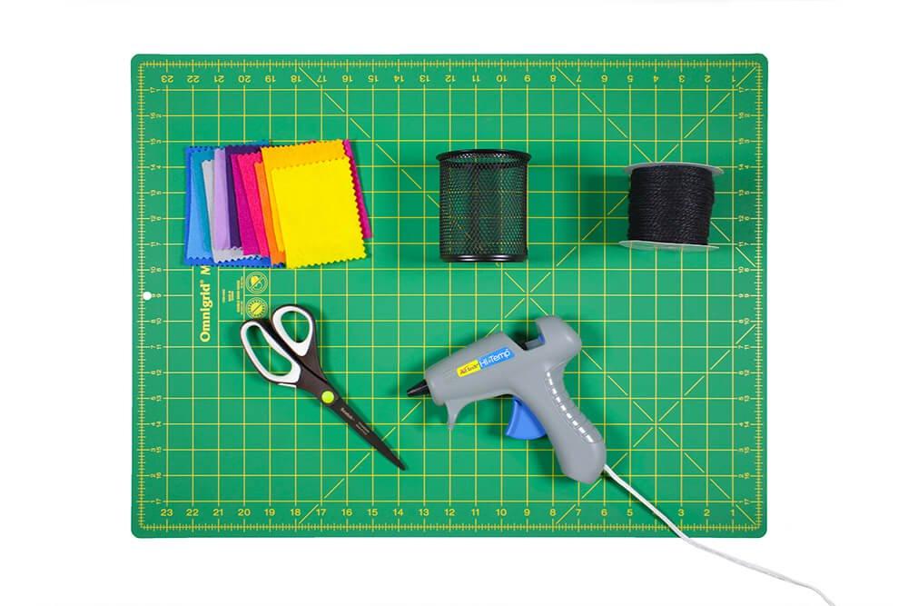 How To Make a Felt Pencil Holder - Materials