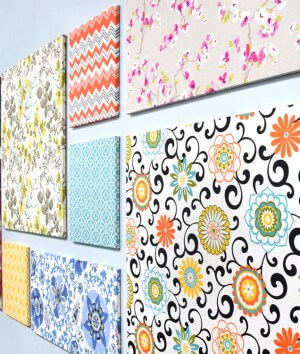 How to Make Fabric Wall Art