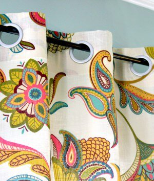 How to Make No Sew Grommet Curtains