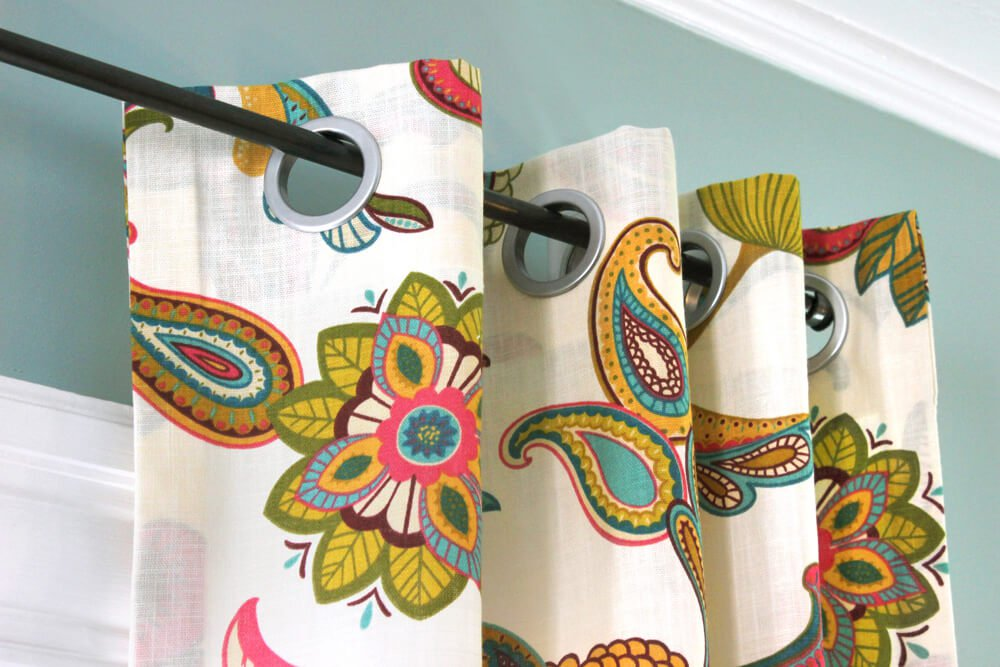 How To Make No Sew Grommet Curtains | OFS Maker\'s Mill