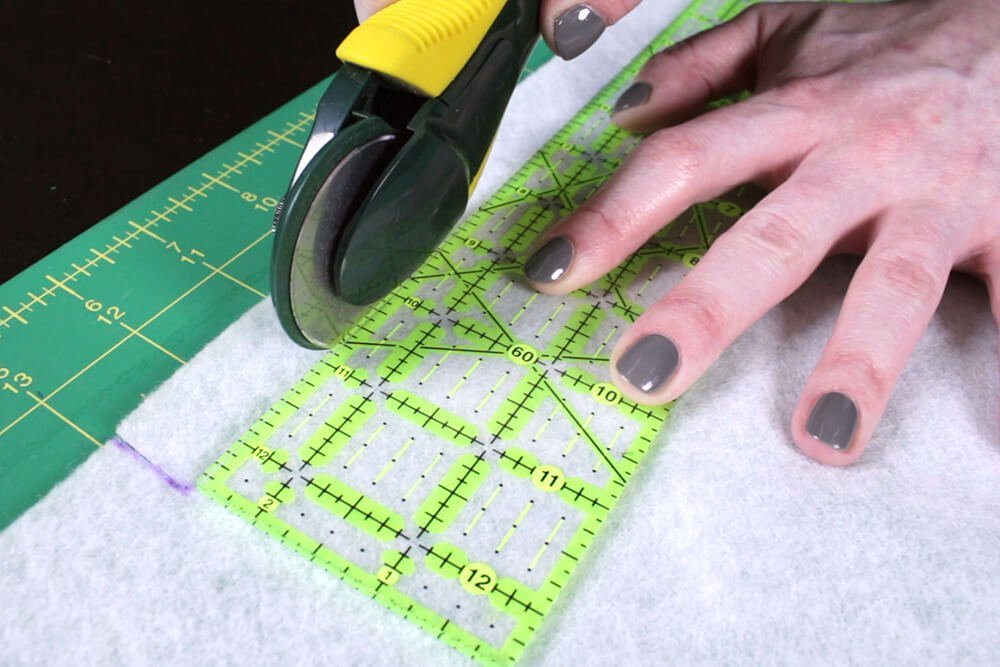Key Fob - Measure and cut interfacing