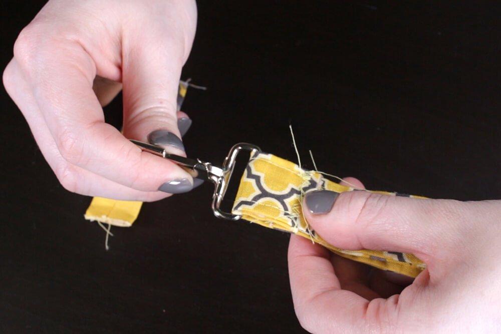 Key Fob - Position seam above hook
