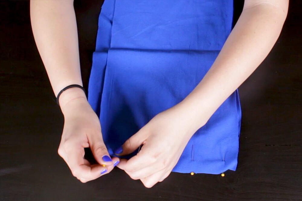 DIY Pleated Maxi Dress Tutorial - Sewing the top