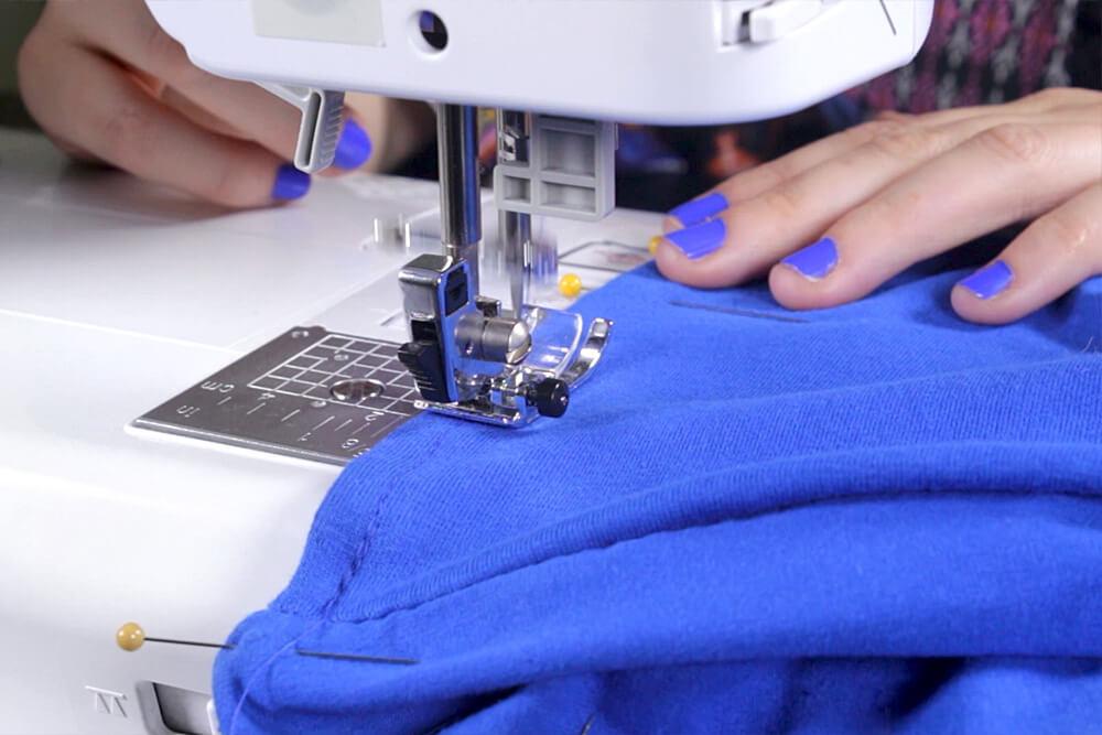 DIY Pleated Maxi Dress Tutorial - Finishing the top