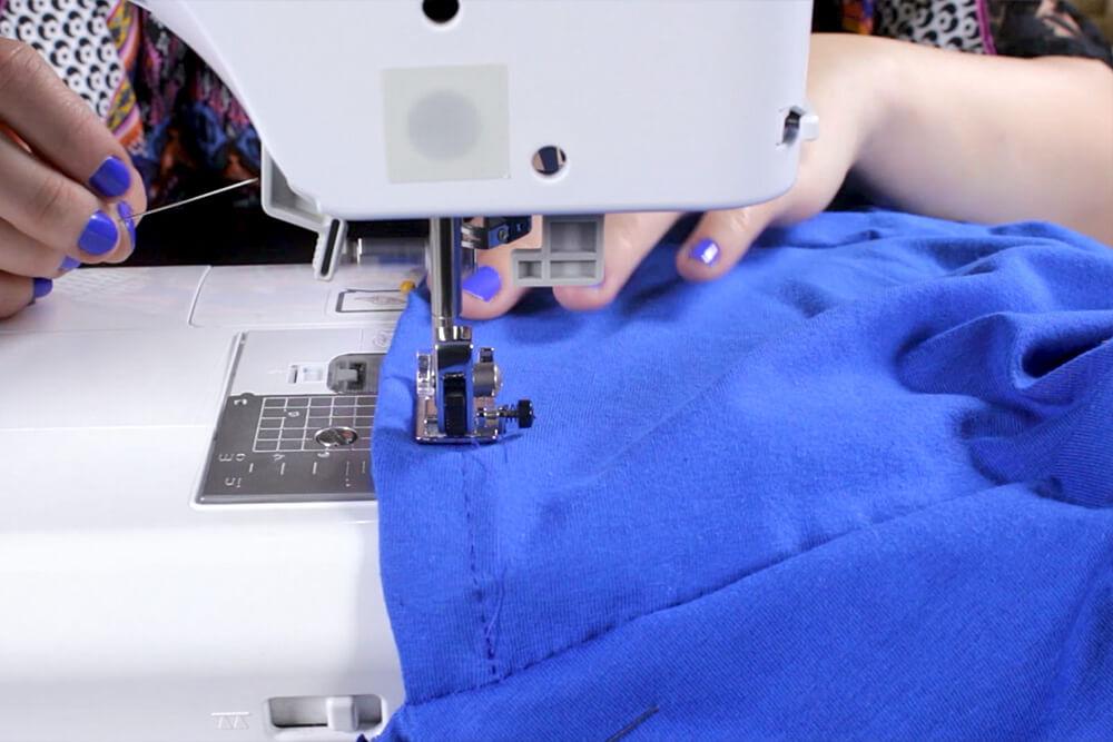DIY Pleated Maxi Dress Tutorial - Hemming the bottom