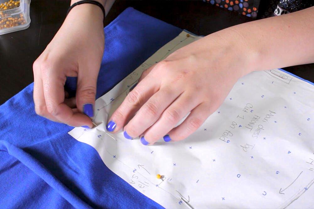 DIY Pleated Maxi Dress Tutorial - Cutting the pattern