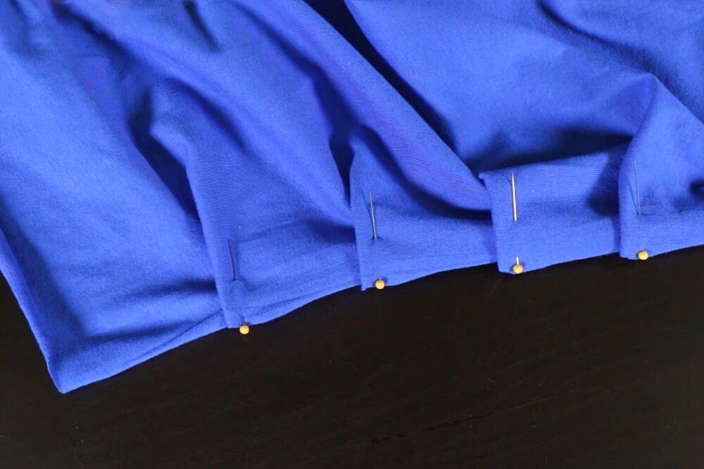 DIY Pleated Maxi Dress Tutorial - Pleating the skirt