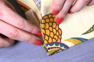 No Sew Grommet Curtains Tutorial   Step 2: Hem The Edges Of The Panel