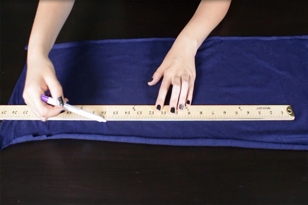 How to Make No Sew Headbands - 3 Styles - Measure and cut out the fabric