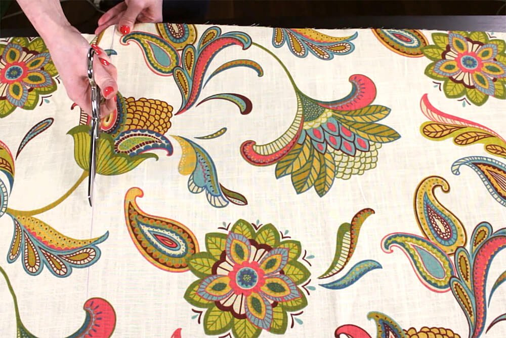 No Sew Grommet Curtains Tutorial - Step 1: Measure & cut the fabric