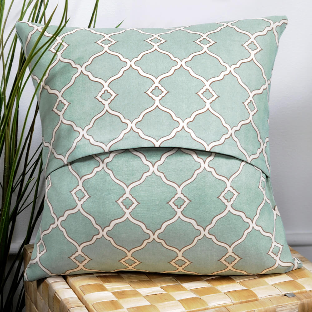 No Sew Outdoor Pillow DIY Tutorial - Finished