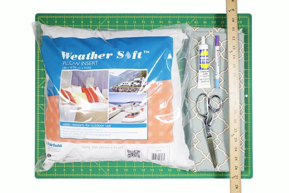 No Sew Outdoor Pillow DIY Tutorial - Materials