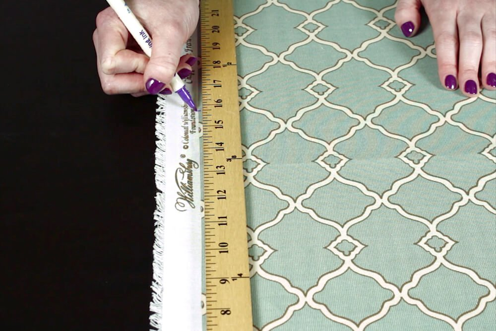 No Sew Outdoor Pillow DIY Tutorial - Cutting the pieces