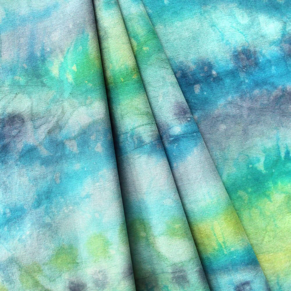 How to Dye Fabric - Painting with Dye - Finished