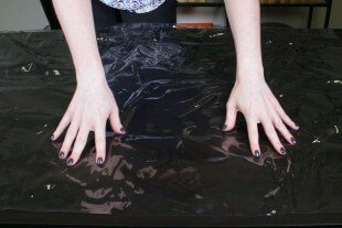 How to Dye Fabric - Painting with Dye - Covering with plastic