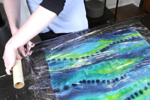 How to Dye Fabric - Painting with Dye - Setting the dye